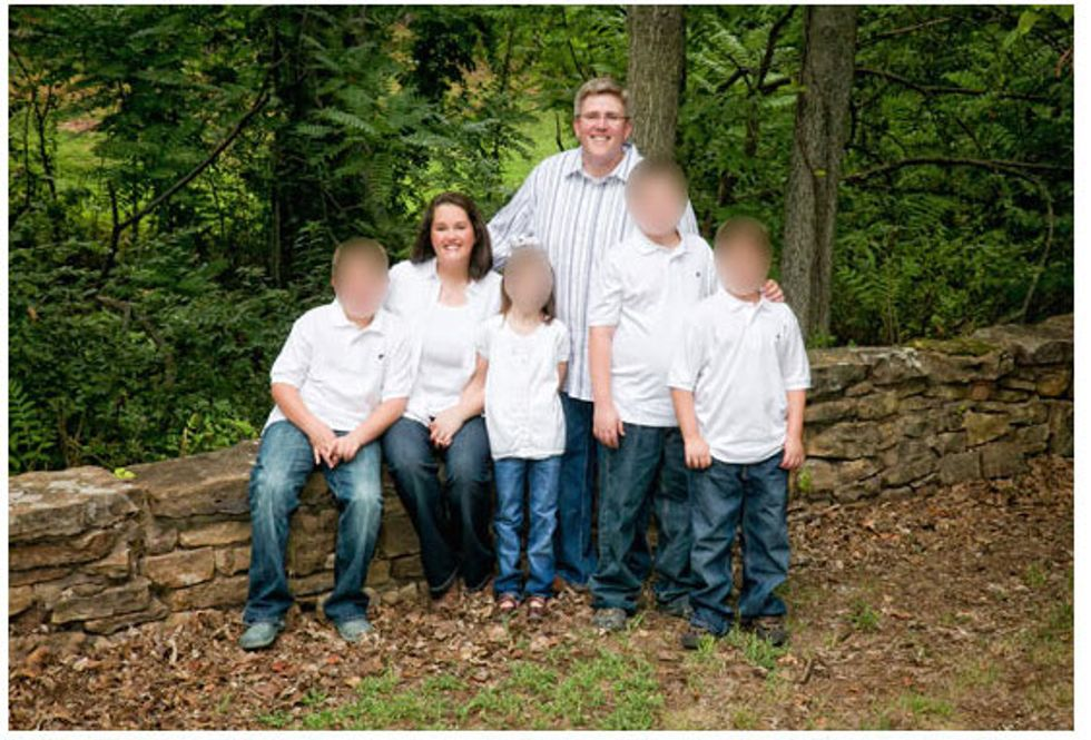 Harris family, their three sons and 'Jeannette' (Harris 2014 campaign)
