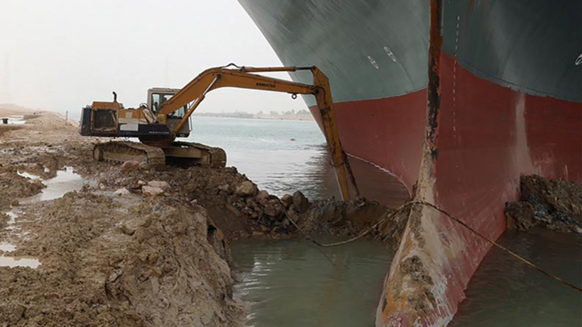 QAnon fans have created a bizarre new conspiracy theory about the stuck Suez Canal boat