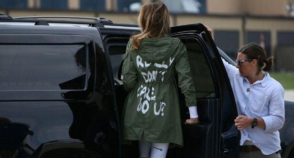 Trump berated Melania in front of aides over 'I Really Don't Care' jacket -- and then lied about her wearing it: new book