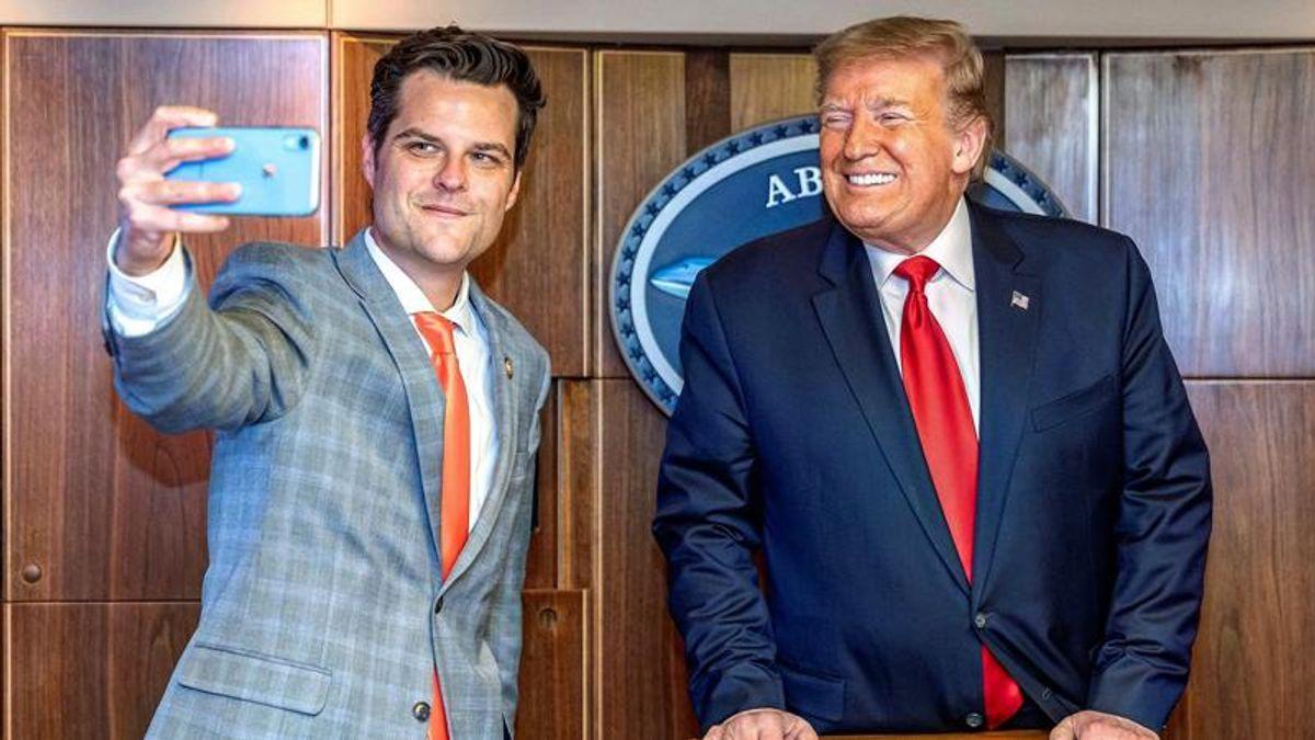 Fox News now has a conspiracy theory that vindicates both Matt Gaetz and Donald Trump