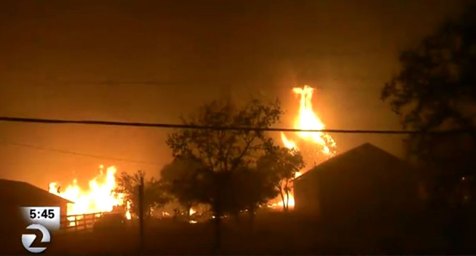 WATCH LIVE: Wind-whipped wildfires turn northern California into a scene of 'Armageddon'