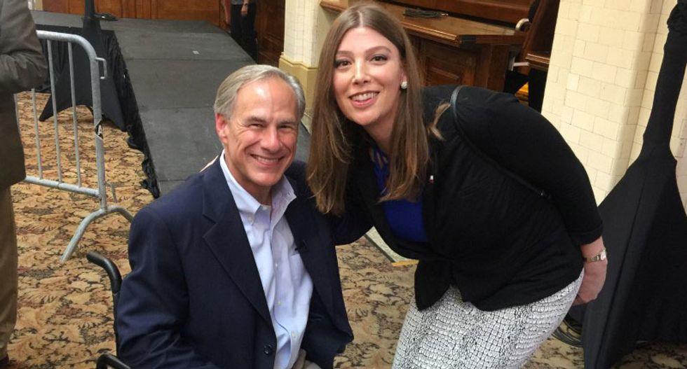 Transgender 'bathroom buddy' photo with Texas governor ignites a firestorm over the 'Potty Police'