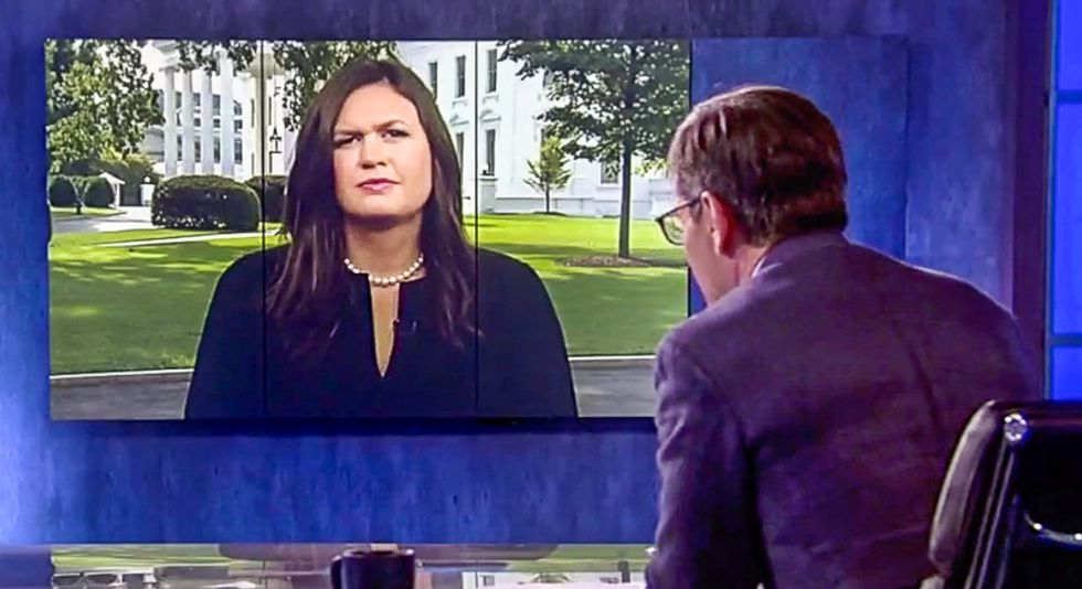 'You know that's not true': ABC host nails Sanders for lying minutes after she vows to 'absolutely' never lie
