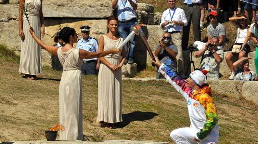 Olympic flame lit for Sochi 2014 Winter Games