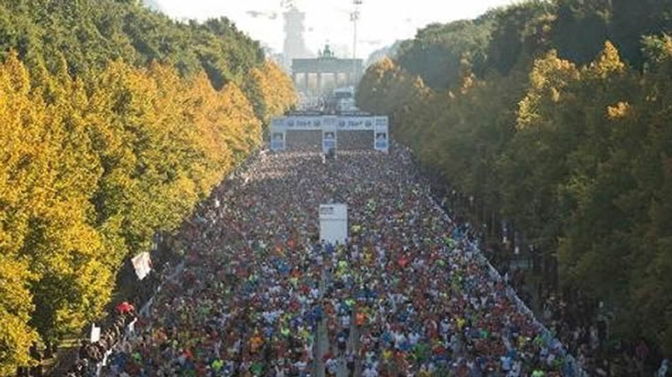 Police charge 'ambush marketer for escort website' for intruding on Berlin marathon