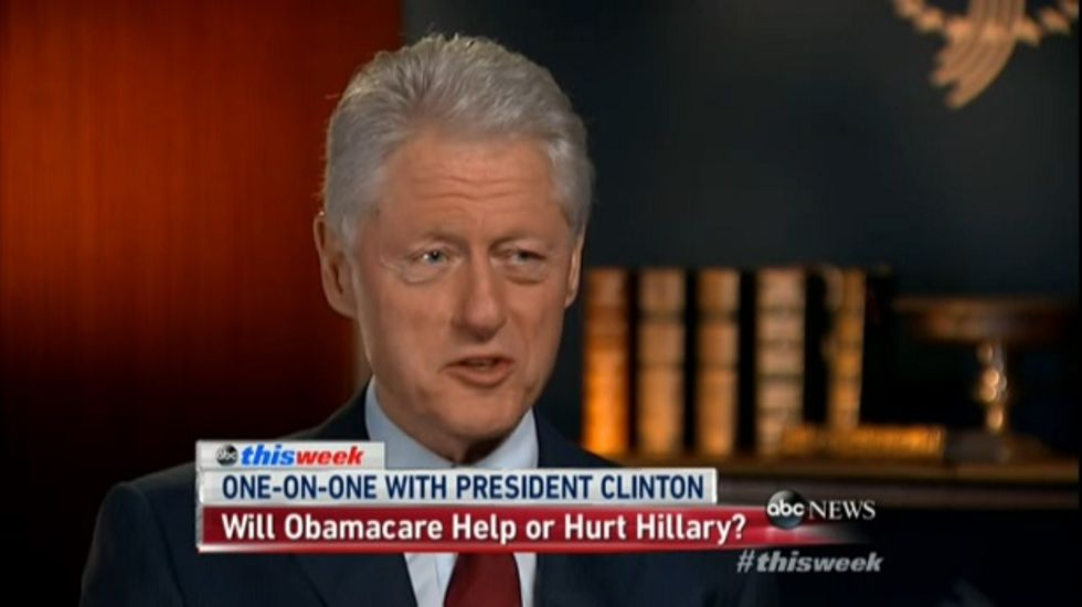 Bill Clinton on the shutdown: 'There are times when you have to call people's bluff'