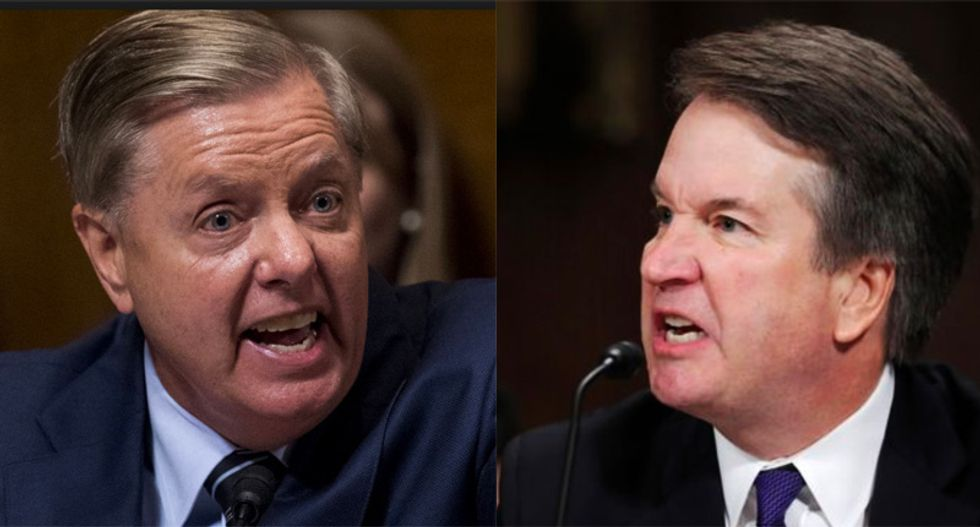 Welcome to the smoldering ruins of American democracy -- courtesy of Lindsey Graham and Brett Kavanaugh