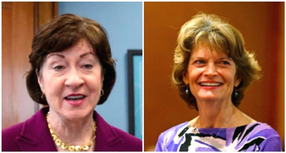 GOP Sens. Murkowski and Collins called out for hypocrisy on Al Franken -- while they still consider Brett Kavanaugh