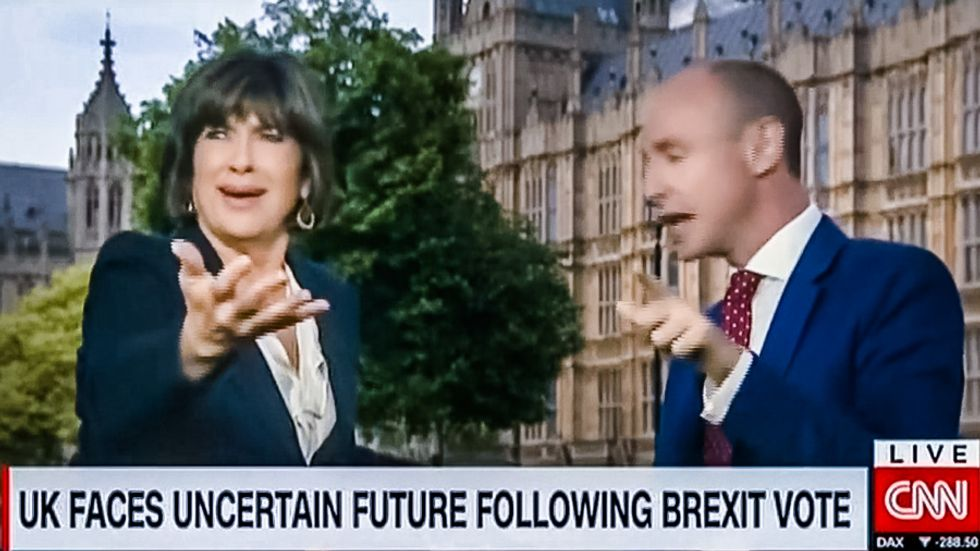 'You are accusing me of being racist': Watch CNN host's epic battle with backpedaling British MEP