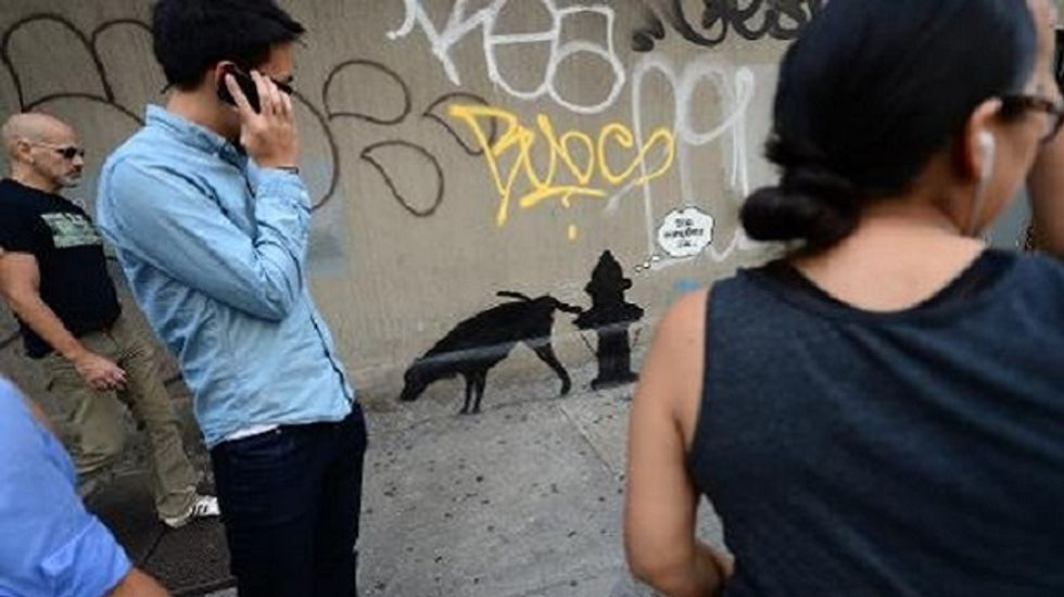 Banksy draws security after NYPD threat