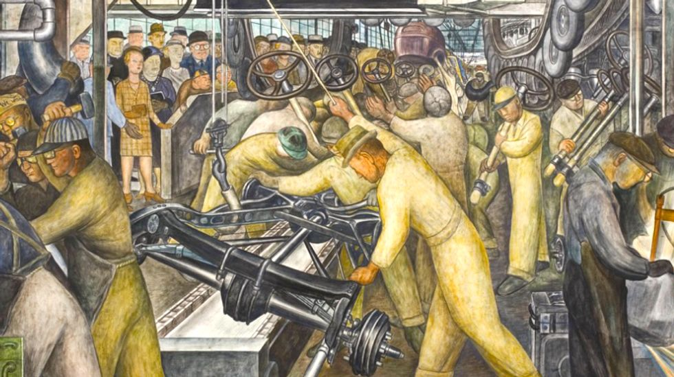 Museum featuring Diego Rivera auto industry-themed murals could fall victim to Detroit bankruptcy