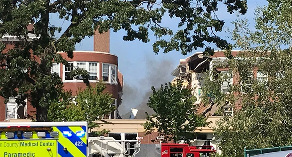 WATCH LIVE: Minneapolis school collapses after explosion -- rescues underway