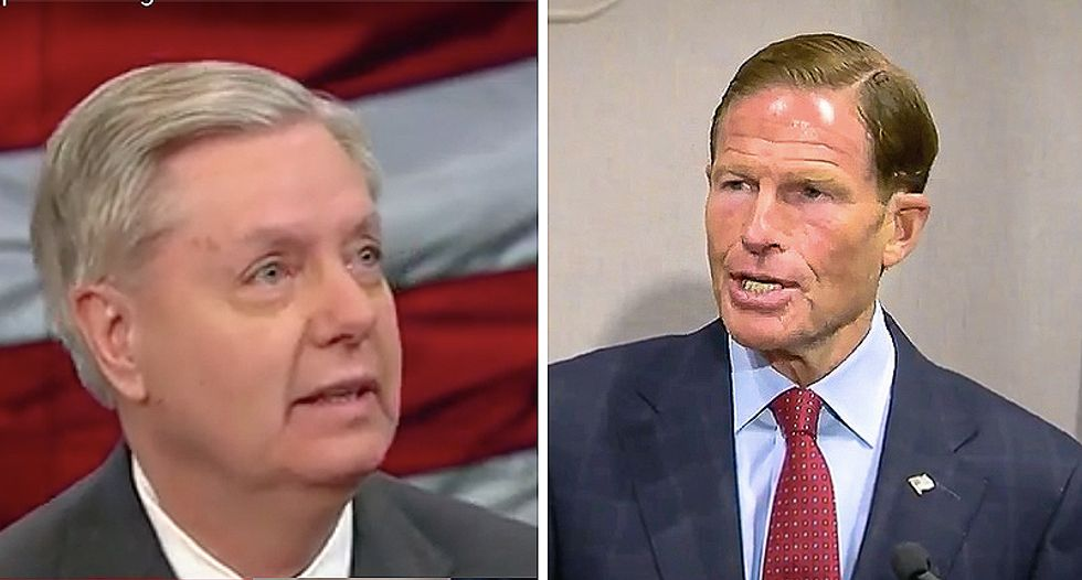 WATCH: Democrat Blumenthal calls out Lindsey Graham by quoting his own words on believing sexual assault survivors
