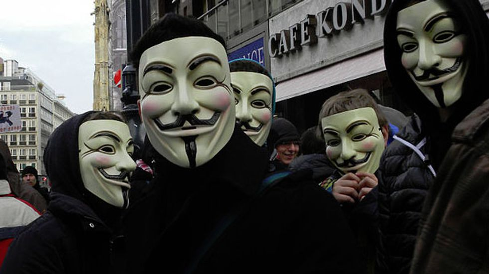 Anonymous warns Ferguson police and KKK in new video: 'We are the law now'