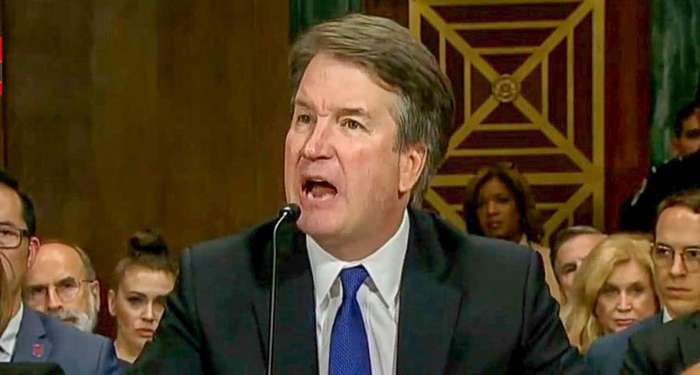 Brett Kavanaugh repeatedly dodges questions about throwing up while drinking by claiming 'weak stomach'