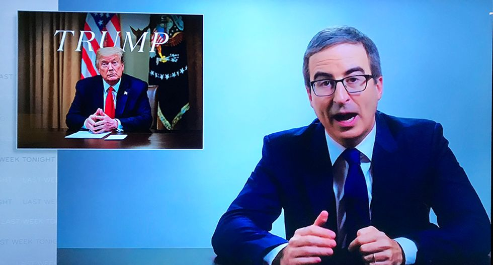 John Oliver blisters Donald Trump for trying to draft everyone to be 'warriors -- then make their deaths not count'