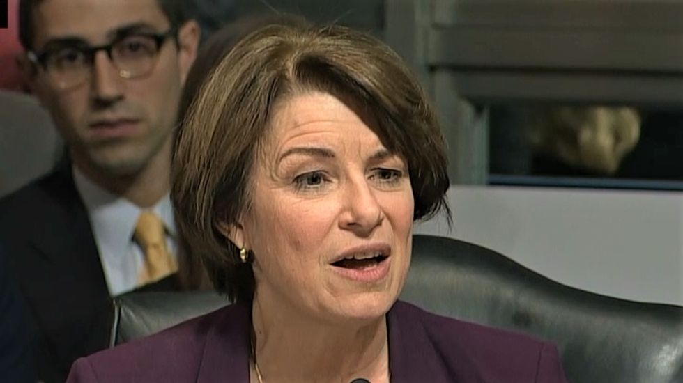 'What are you hiding?' Amy Klobuchar accuses GOP of rushing Kavanaugh vote before more evidence drops