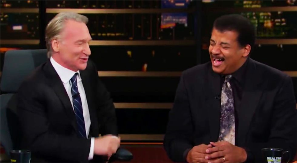 WATCH: HBO's Maher and Neil deGrasse Tyson hilariously debate whether 'anti-intellectual' Trump can learn anything