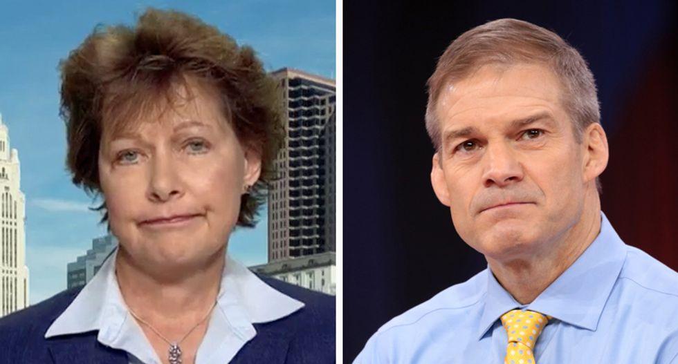 WATCH: Domestic abuse survivor challenging GOP's Jim Jordan slams men who 'turn a blind eye' to sex assaults
