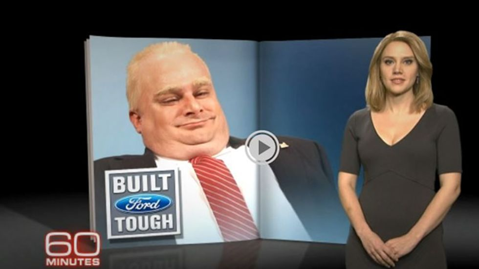 Rob Ford to find show where people will believe his 'outrageous lies' in SNL cold open