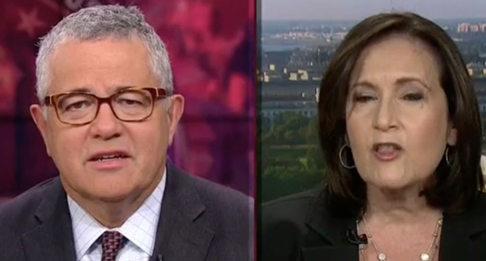 Kavanaugh backer snarls at CNN's Toobin for mentioning how Merrick Garland was treated by GOP