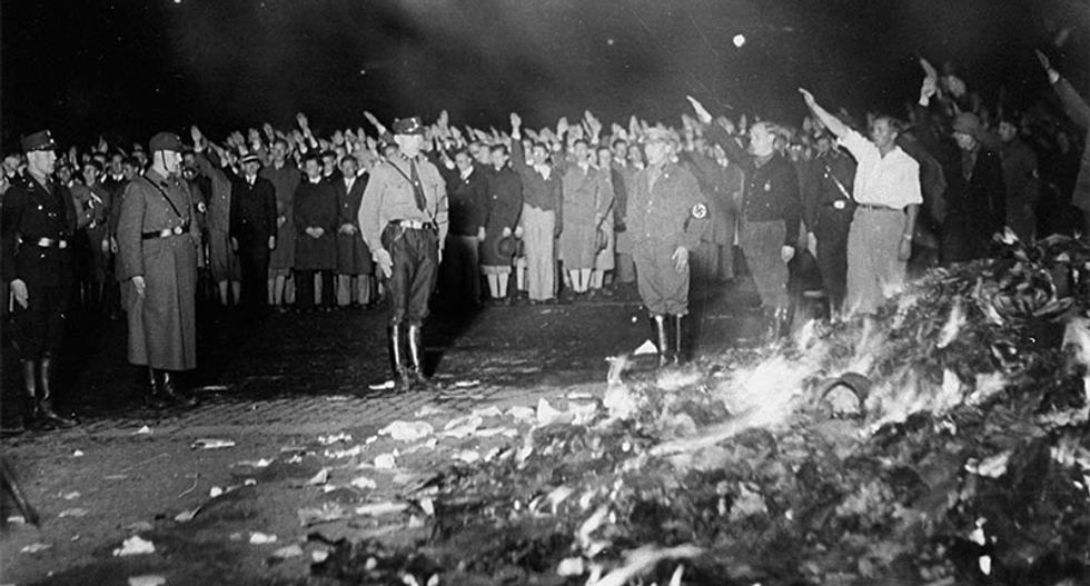Alt-right cancels California book burning of 'degenerate literature' after organizer says he fears liberals
