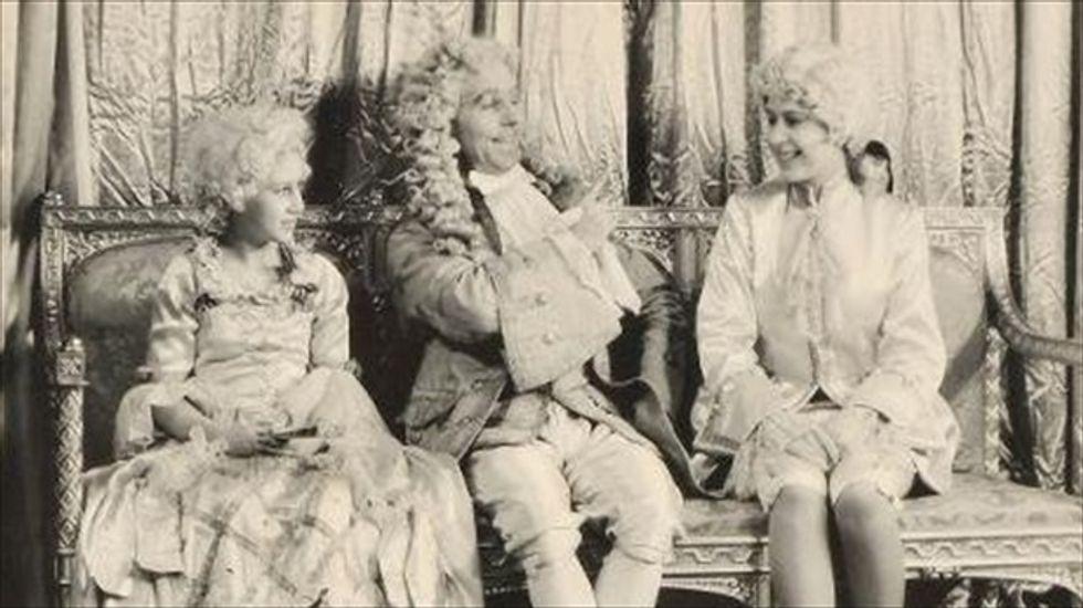 Teenage Queen Elizabeth II pictured in royal panto