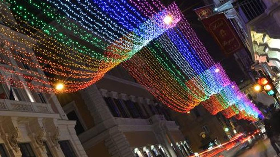 Conservatives in Rome freak out over 'gay' Christmas lights