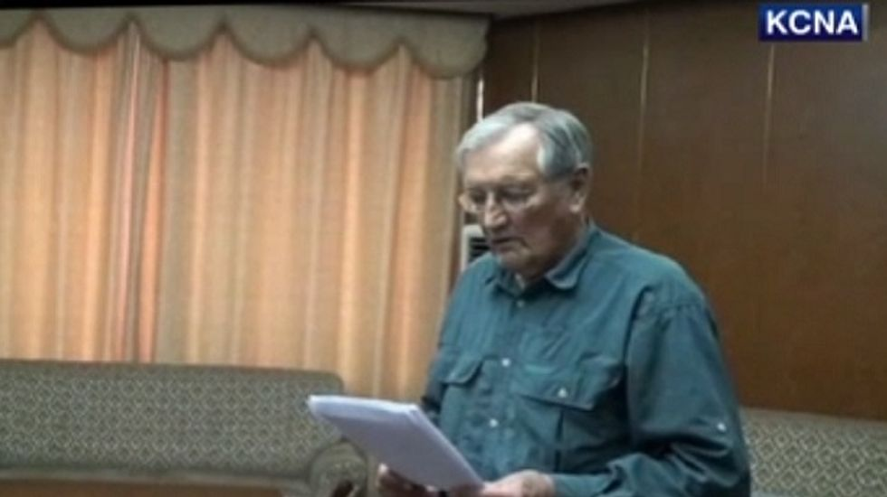 85-year-old American war veteran Merrill Newman released from North Korea as Joe Biden visits DMZ