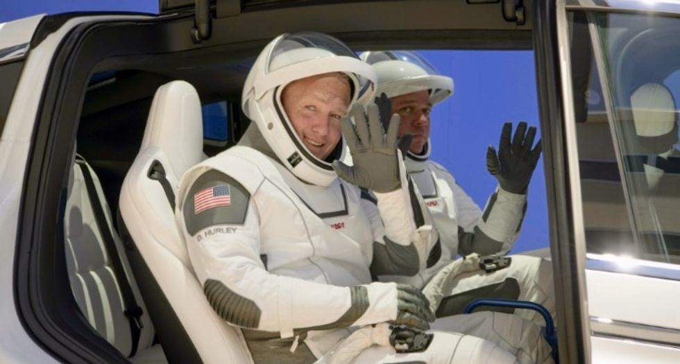 Bob and Doug, the best friends on historic SpaceX-NASA mission