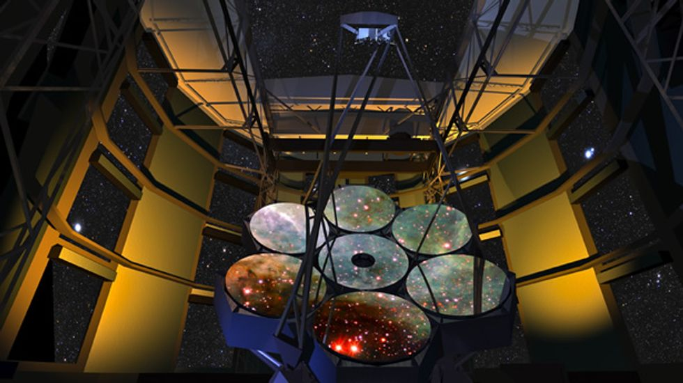 Mirrors in Giant Magellan Telescope ready to capture light from dawn of universe
