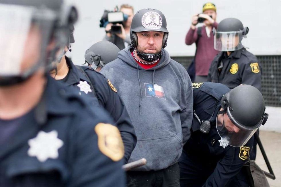 Alt-right icon 'Based Stickman' faces a year in prison for beating counter-protesters with a baton