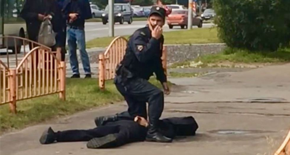 7 hurt in Russia knife attack, terror 'not main angle'