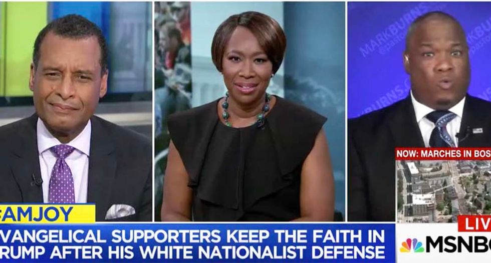 WATCH: Joy Reid stumps Trump-supporting pastor with question about what president has done for black people