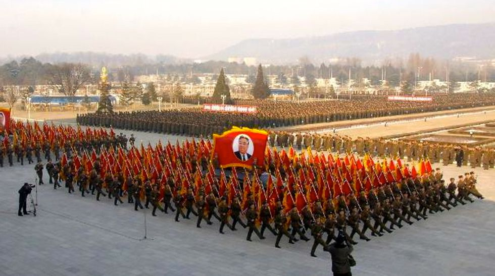 Thousands of North Korean soldiers pledge loyalty to Kim Jong-Un as Seoul goes on alert
