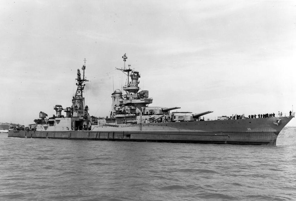 U.S. warship Indianapolis found 18,000 feet deep in Pacific Ocean