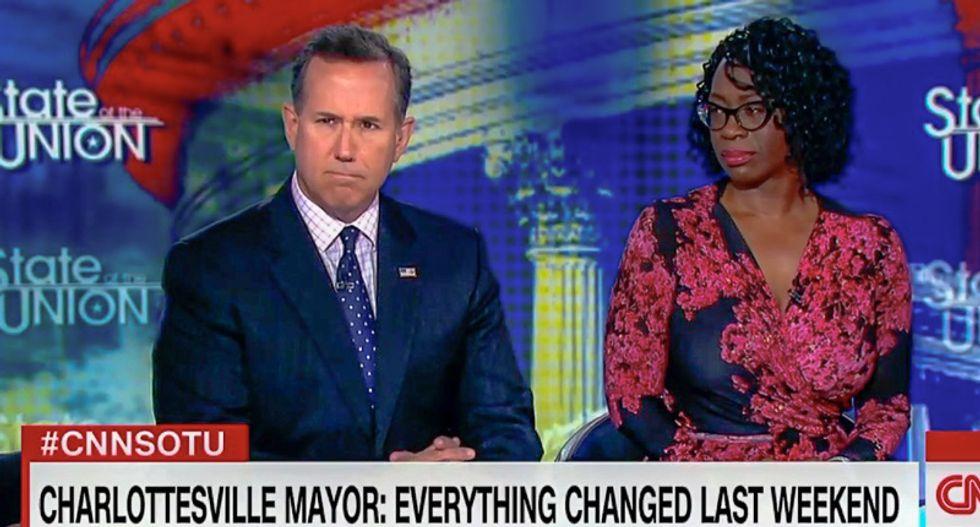 'I hope you're uncomfortable': Bakari Sellers crushes Santorum for saying racism debate 'is the problem'