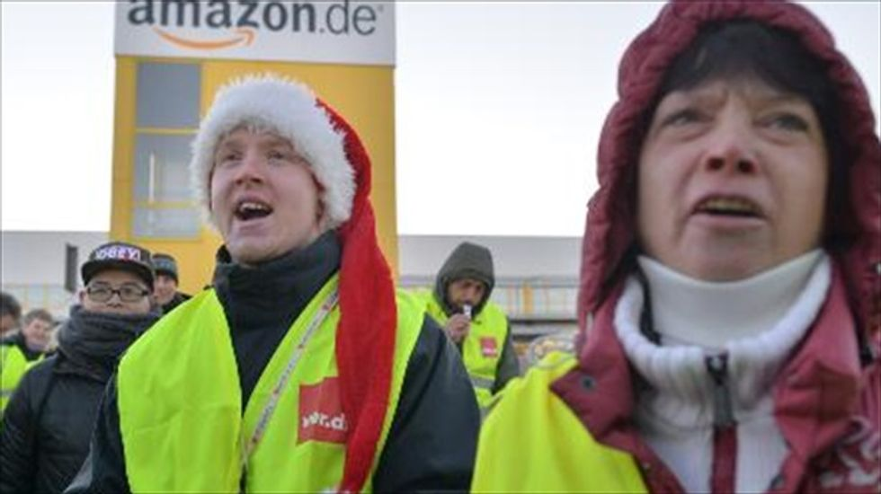 Amazon workers in Germany walk off the job in push for higher wages