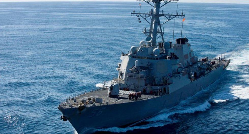 Ten sailors missing after US warship, tanker collide near Singapore