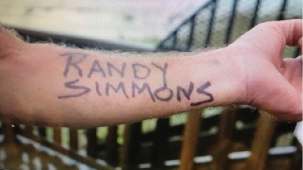 'You just never know what's going to happen in these situations': Florida man tattoos name on arm in response to Hurricane Michael