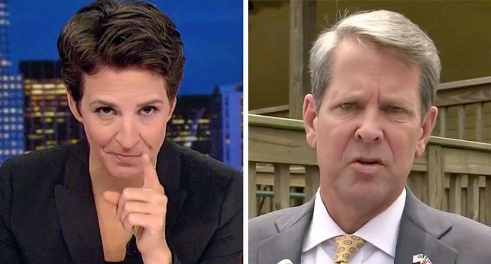 Maddow shames Georgia Secretary of State on voter purge: 'Most people step down because it's not a good look'