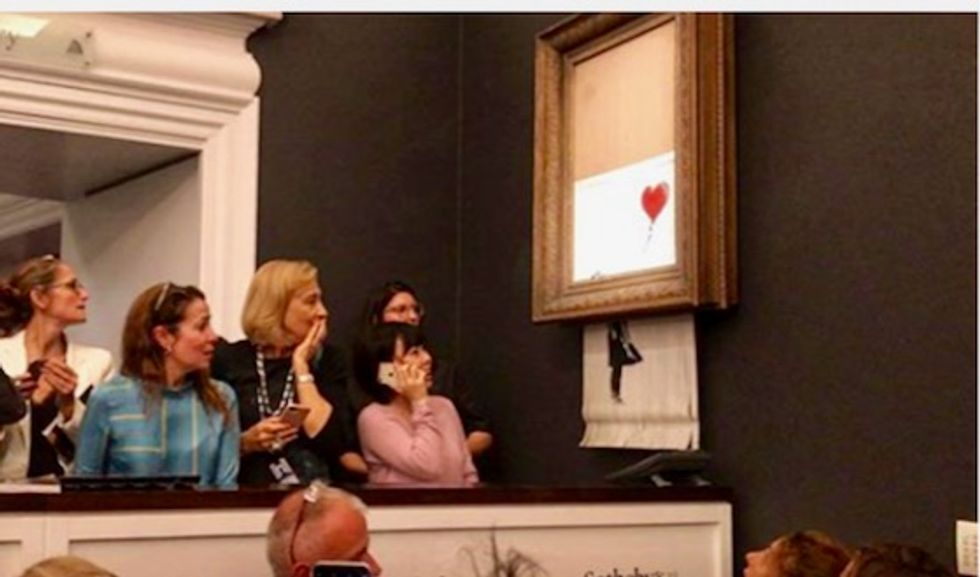 Banksy: I was in the room when his painting shredded – and enhanced his brand
