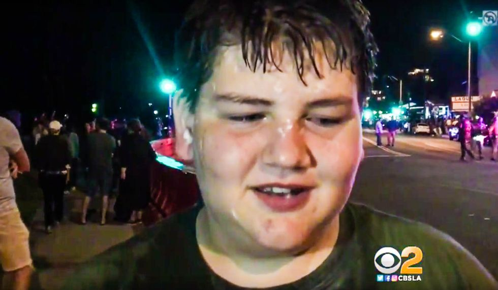 12-year-old boy caught in middle of chaotic anti-immigration rally gets pepper sprayed