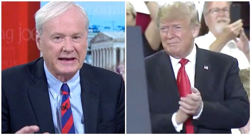 'They're like seals': MSNBC's Chris Matthews mocks Trump and his fans for clapping for themselves
