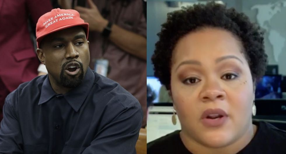 MSNBC's Yamiche Alcindor baffled by Kanye's 'bizarre' rant: 'He was trafficking in stereotypes' -- and it won't help Trump one bit