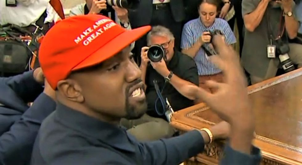 Conservative shreds Trump's Kanye stunt on CNN: 'A man who's clearly not OK and a president ready to exploit it'