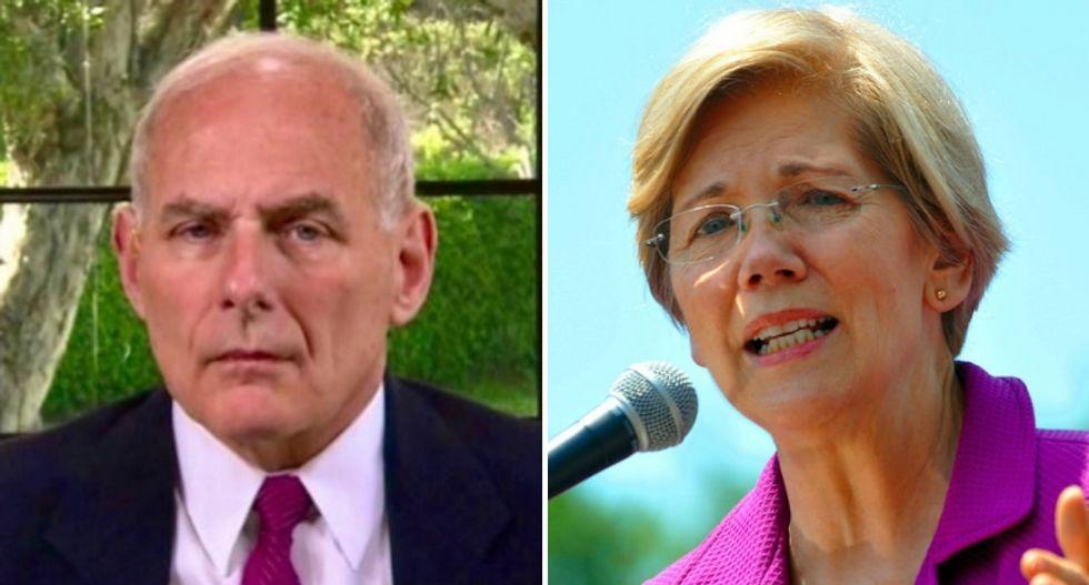 'Blah blah blah': John Kelly slammed 'arrogant' Elizabeth Warren in email to staff