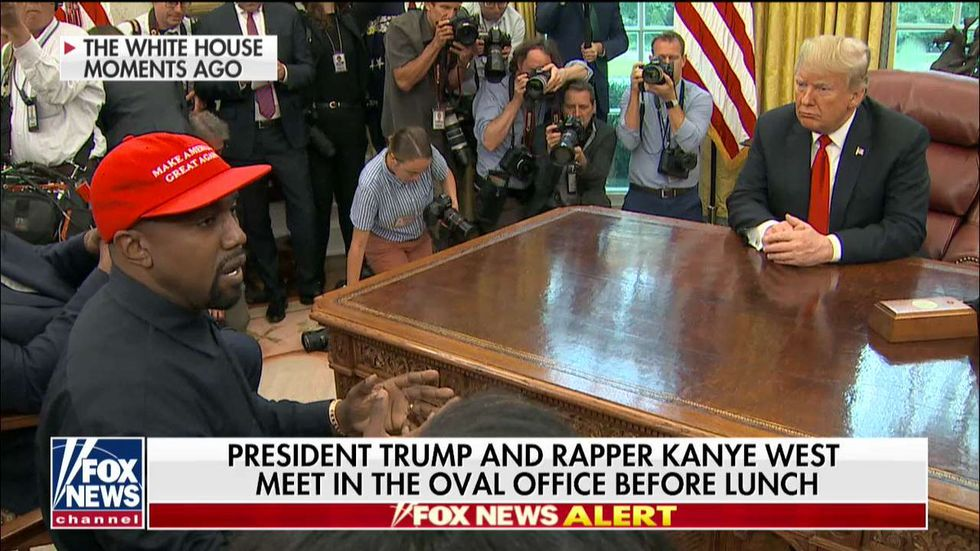 WATCH: Fox News heavily edits footage of Kanye-Trump meeting to present serious policy discussion