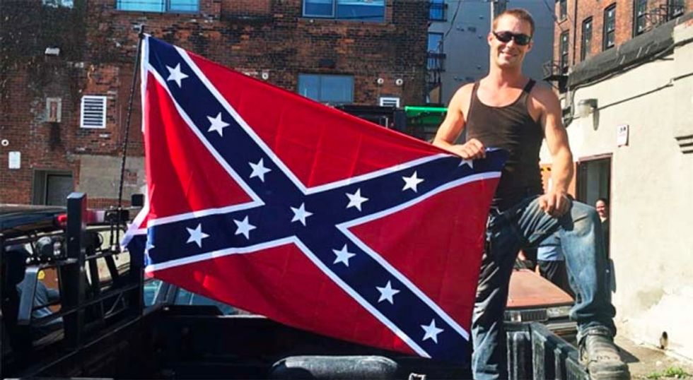 Construction worker flying Confederate flag at work site just to piss people off booted from job