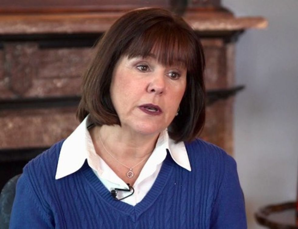 Karen Pence is campaigning for a candidate who longs for the days when it was a crime to be gay